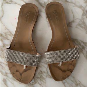 Aldo rhinestone sandals 7.5